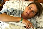 Dana Pavloňová na infekčním oddělení nemocnice v Opavě