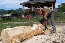 Dřevosochání v Loučné nad Desnou