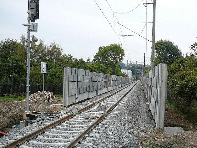Několik pohledů na elektrifikovanou trať do Zábřehu
