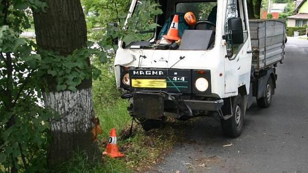Řidič havaroval při cestě do jesenických lázní