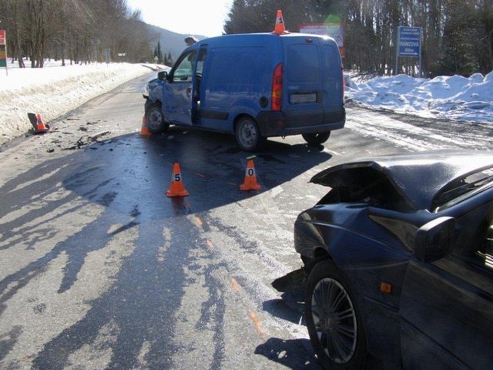 Dopravní nehody na Jesenicku.