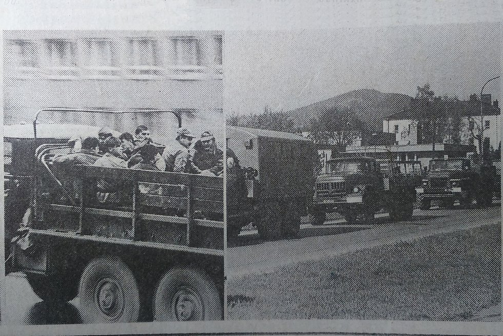 Odjezd sovětské armády ze Šumperku.