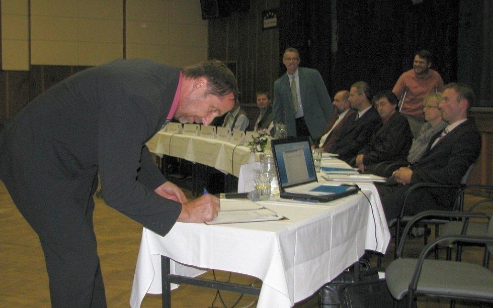Ustavující zastupitelstvo v Zábřehu.