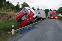 Opilý řidič havaroval v Supíkovicích.