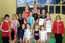 Výprava šumperských gymnastek v Košicích
