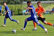 Fotbalisté Šumperku (v modrém). Ilustrační foto