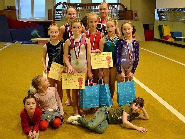 Šumperské gymnastky na Ostravském čertíkovi