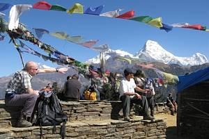 Snímek z Nepálu.