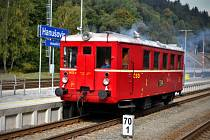 Mezi Hanušovicemi a Starým Městem jezdil v sobotu 28. září motorák zvaný Hurvínek