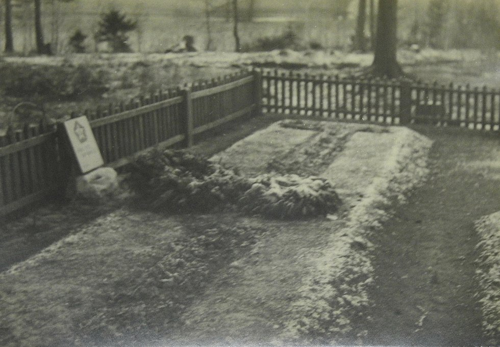Původní podoba místa hromadného hrobu v mikulovické Muně.