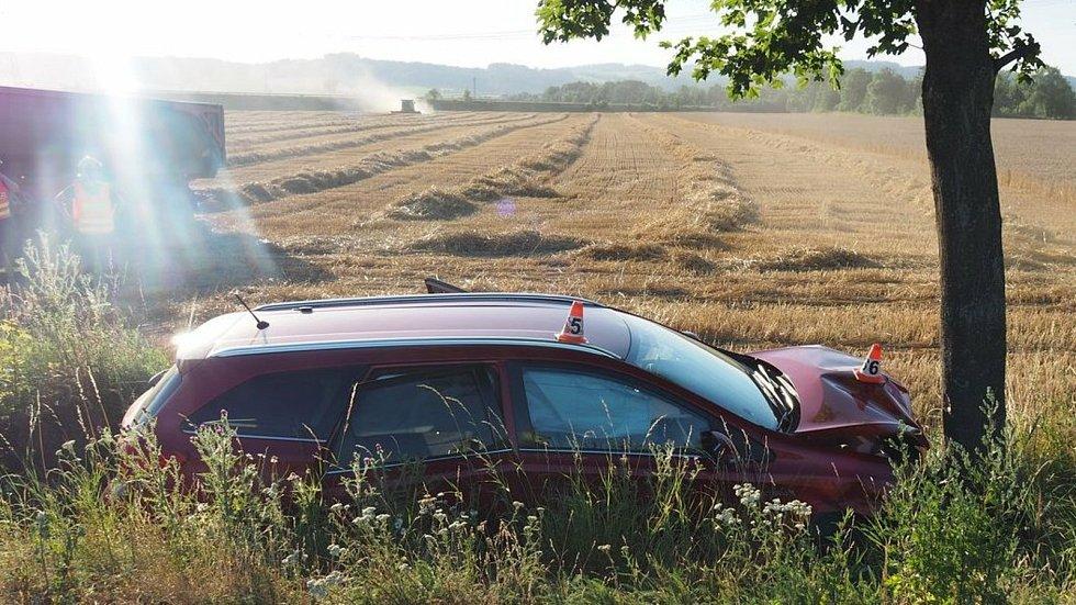 Dopravní nehoda o prvním srpnovém víkendu v Zábřehu.