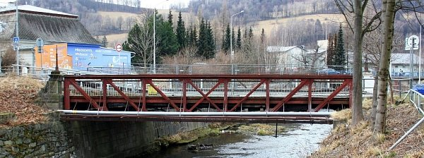 Secesní most vJeseníku, který je kulturní památkou, potřebuje opravu.