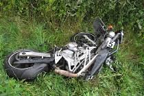 Snímky z místa smrtelné nehody u Rovenska