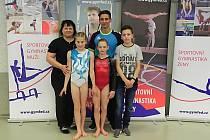 Šumperští gymnasté na republikovém šampionátu v Třinci.