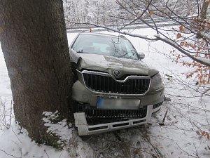 Dopravní nehoda v Bělé pod Pradědem