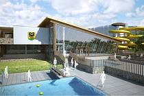 Budoucí podoba jesenického aquaparku.