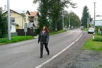 V Lipovské ulici v Jeseníku chybí chodníky