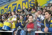 Šumperští fanoušci během pátečního utkání se Vsetínem