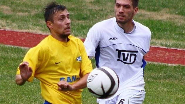 Šumperk versus Slavičín (bílé dresy).