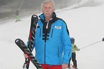 Ivan Bank v lyžařském areálu Panorama ve Štědrákově Lhotě.