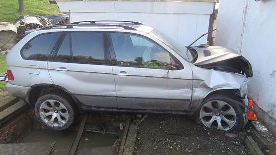 Nehoda v místní části Žulové 30. 4. 2017