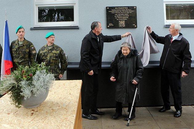 Odhalení pamětní desky vojákům 13. pěšího pluku ze Šumperku