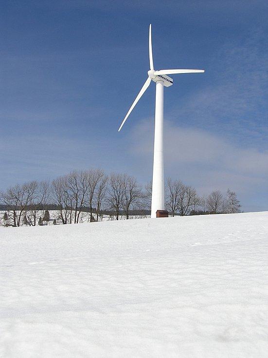 Větrná elektrárna v Ostružné.