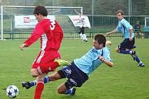 Fotbalisté Zábřehu (modré dresy) porazili na domácím trávníku Vítkovice
