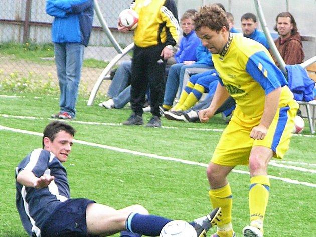 Snímek z utkání Šumperka s Mohelnicí. Oba týmy nyní na dálku bojují o druhé místo.