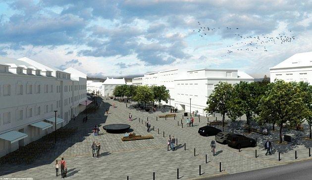 Takto vypadá budoucí podoba náměstí Osvobození podle představ architektů, kteří zvítězili vodborné soutěži vypsané městem.