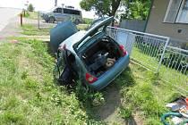 Dopravní nehoda v Lošticích.