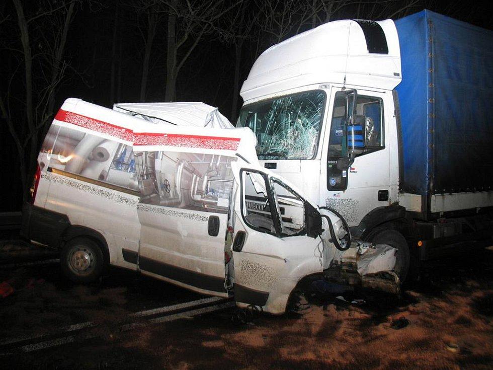 Policejní snímky z tragické srážky na Mohelnickém kopci