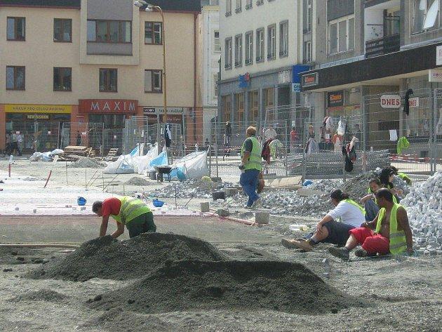 Aktuální situace na Masarykově náměstí v Jeseníku