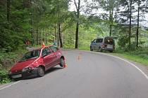 Snímky nehody, která se stala mezi Jeseníkem a Rejvízem.