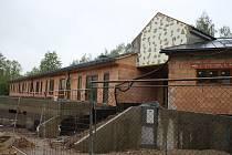 Stavba domu pro seniory v Písečné, stav v květnu 2019.