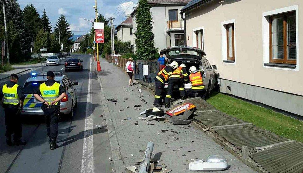Nehoda v neděli 16. července v Postřelmově.