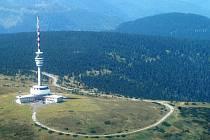 Letecký pohled na Praděd a jeho okolí