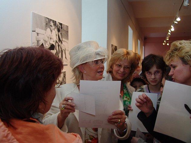 Lea Vivot na versnisáži šumperské výstavy