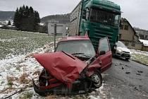 V Rudě nad Moravou se srazila dvě auta.