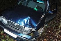 Dvojitá nehoda šoféra mezi Šumperkem a Bludovečkem - 17. 12. 2020