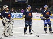 Velká hokejová sláva v Šumperku - Papíroví Draci po 20 letech