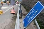 Oprava silnice přes Červenohorské sedlo. Ilustrační foto
