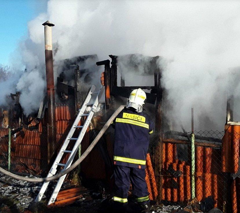 Likvidace požáru ve Zlatých Horách, kterého se účastnily i jednotky z Polska.