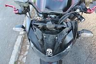 Nehoda motorkáře u Sobotína