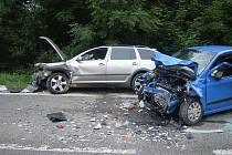 Nehoda mezi Bludovem a Kláštercem z pátku 1. července