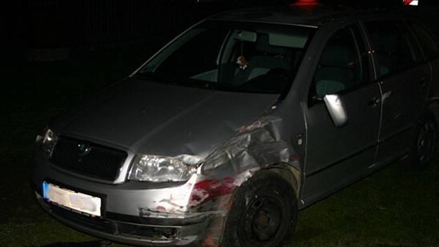 Devatenáctiletý řidič havaroval 23. října večer v Bělé pod Pradědem