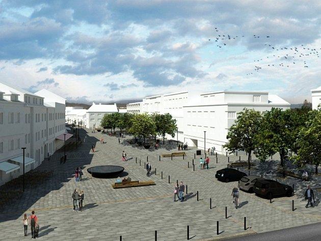 Takto vypadá budoucí podoba náměstí Osvobození podle představ architektů, kteří zvítězili v odborné soutěži vypsané městem.