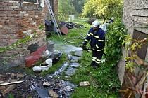 Požár rodinného domu v Novém Malíně