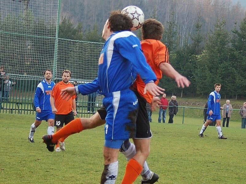 Velké Losiny versus Oskava (modré dresy)