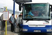 Snímek z jesenického autobusového nádraží